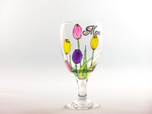 tulip goblet glass