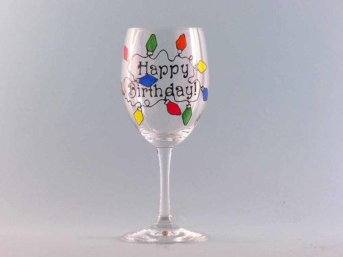Christmas Birthday Wine Glass