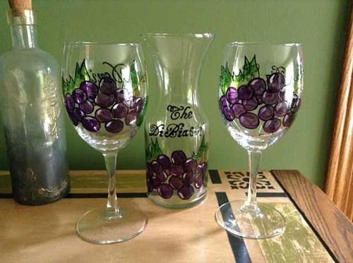 Gallery Hand Painted Glassware Karens Glass Design