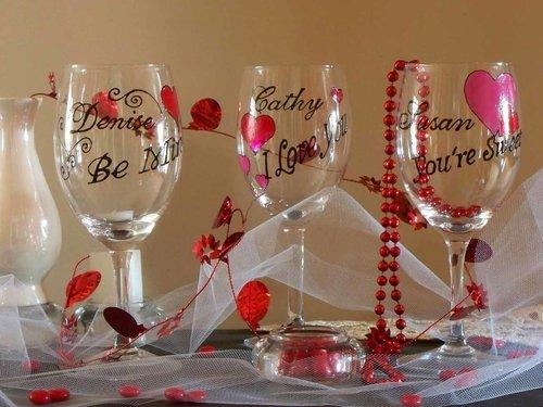 Valentine S Day Wine Glass Be Mine Karen S Glass Design
