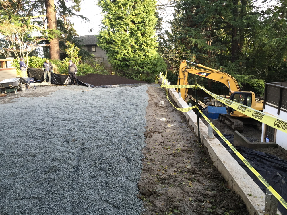 Construction  When it comes to building the perfect landscape, Perennial Planning knows the importance of foundation. We use a variety of construction services and tools to ensure the foundation is safe for the rest of our installations.