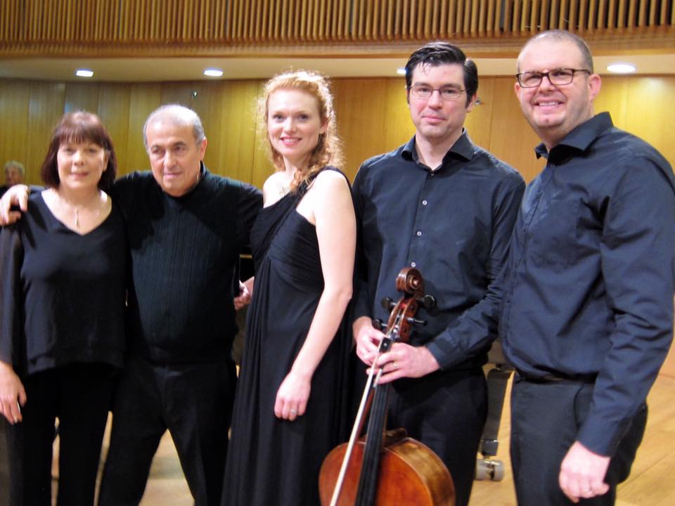 After a performance at the Israel Conservatory of Music in Tel Aviv.