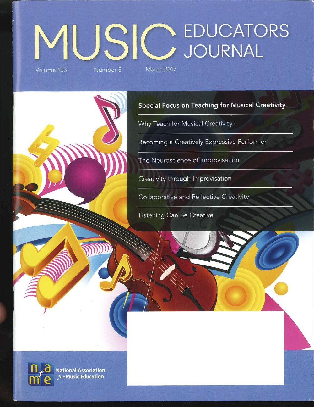 Click  here  to read the full review of  Squeak Big  in  Music Educators Journal  (publication of the National Association for Music Education).