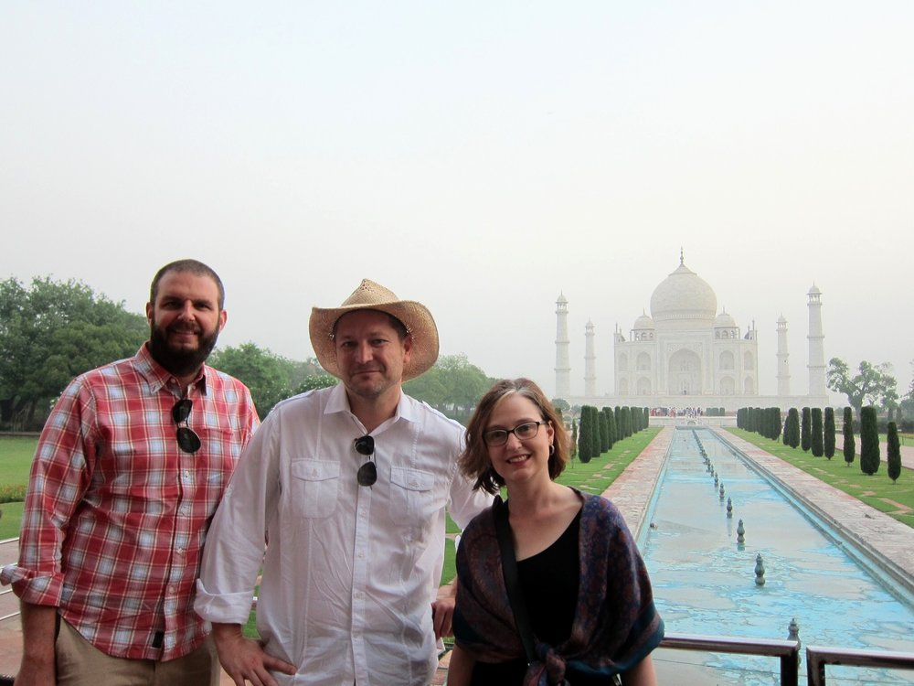 During their trip to India the PEN trio also visited the Taj Mahal.