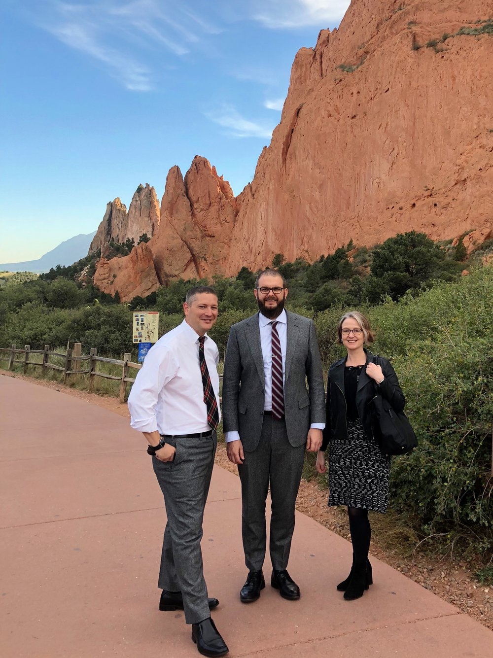 The PEN Trio in Colorado Springs at the Garden of the Gods.
