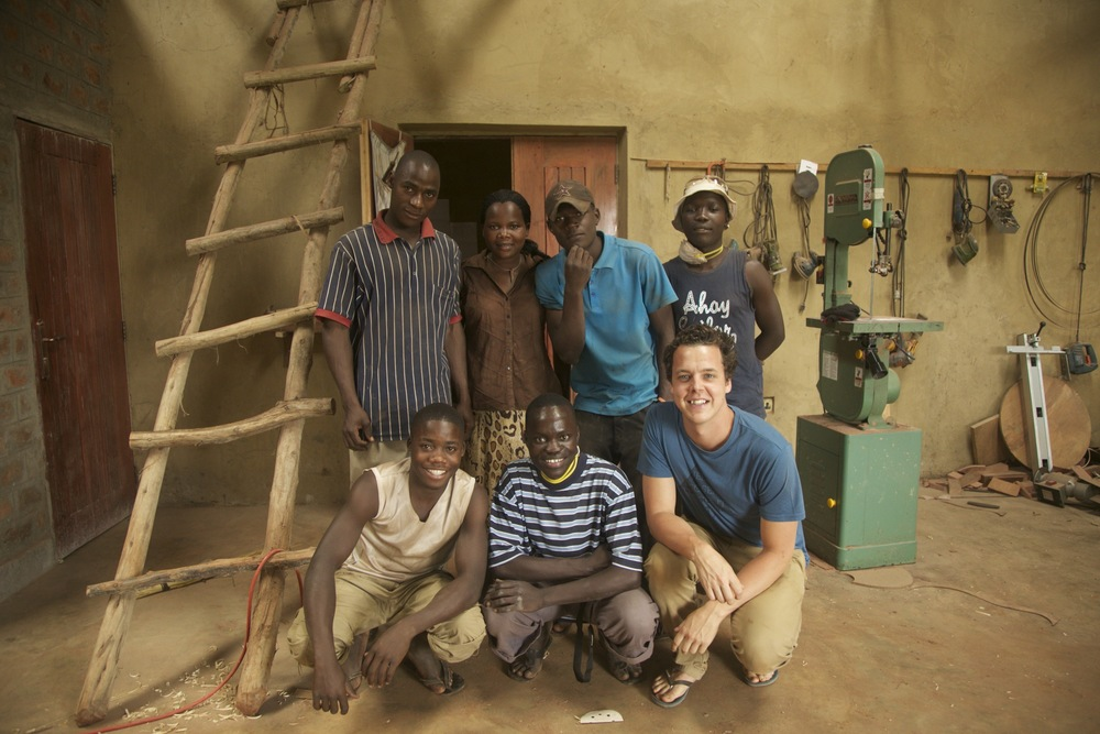 Ryan with the Duncan Africa crew.