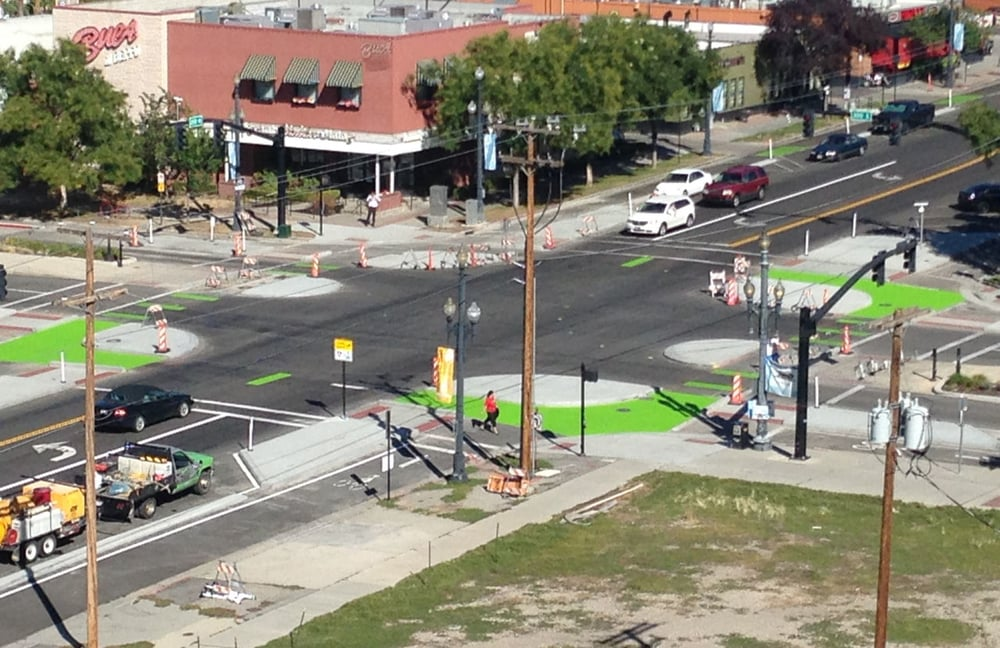 Protected Intersection in Salt Lake City, UT