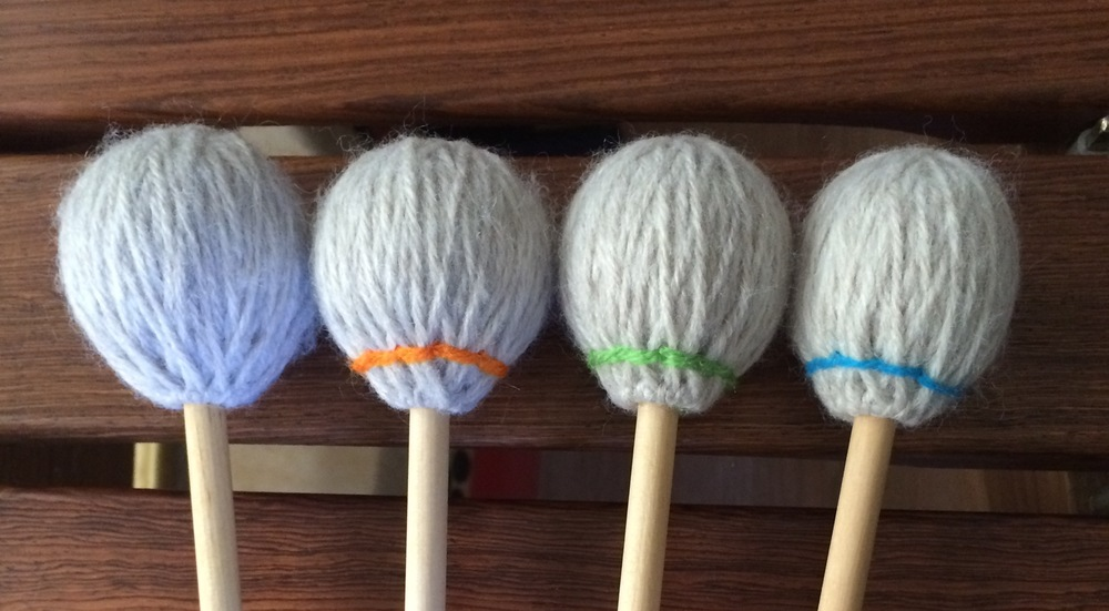 Oversize synthetic core mallets, from very soft through medium.
