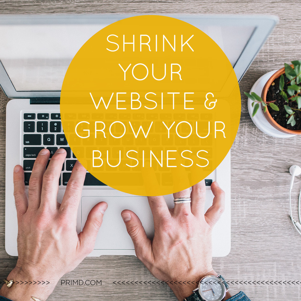 Shrink Your Website & Grow Your Business