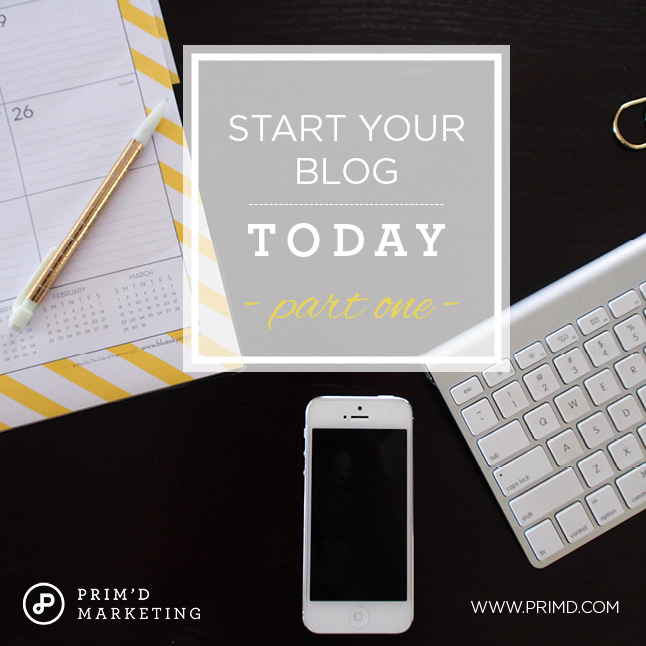 Primd Marketing - Start your Blog today