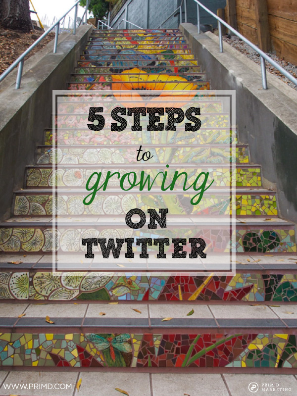 Five Steps To Growing On Twitter - Prim'd Marketing blog