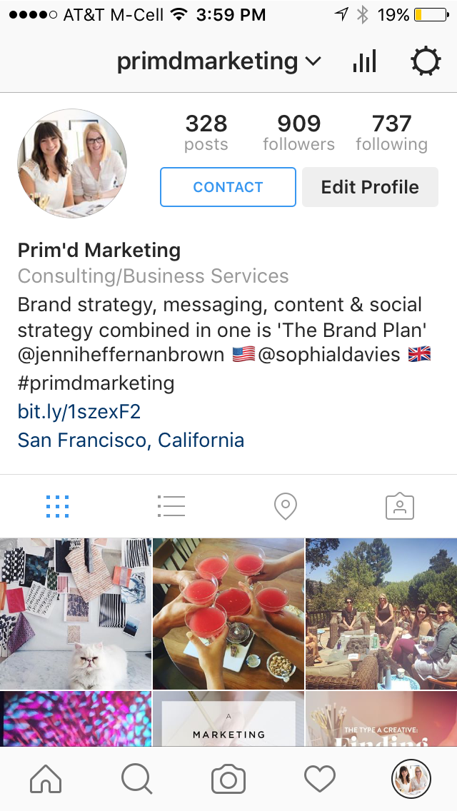 How To Switch To A Instagram Business Profile - Prim'd Marketing