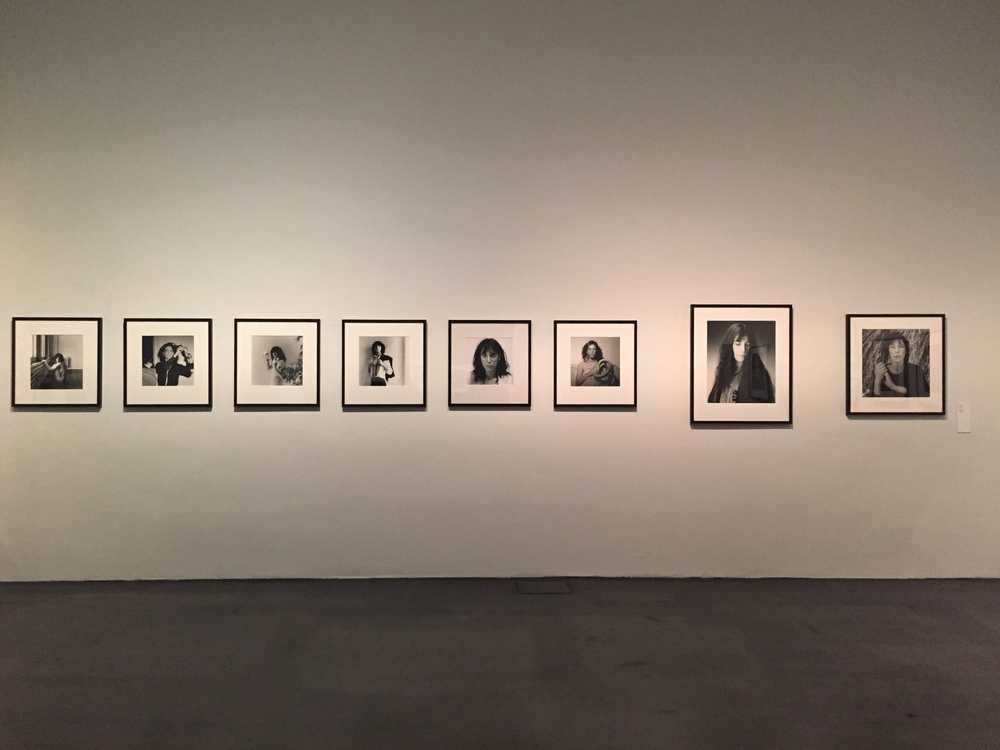 Stunning wall of Patti Smith portraits in the Kiasma's Mapplethorpe retrospective / 14 July 2015