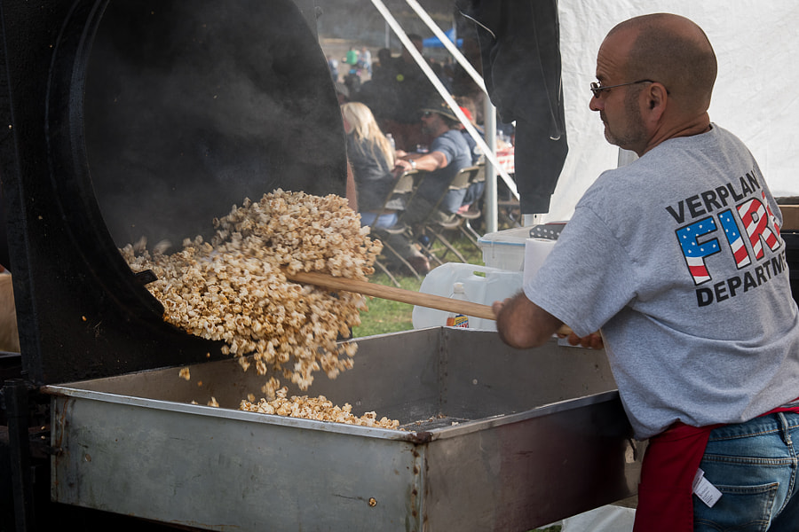 Street fair Kettle Corn Vendor