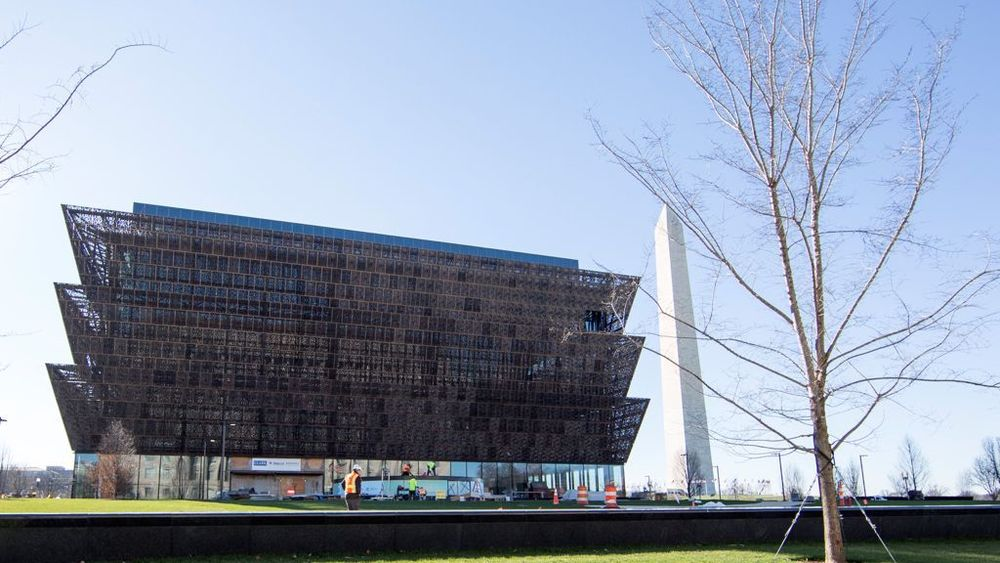The structure of the new National African-American History and Culture Museum!