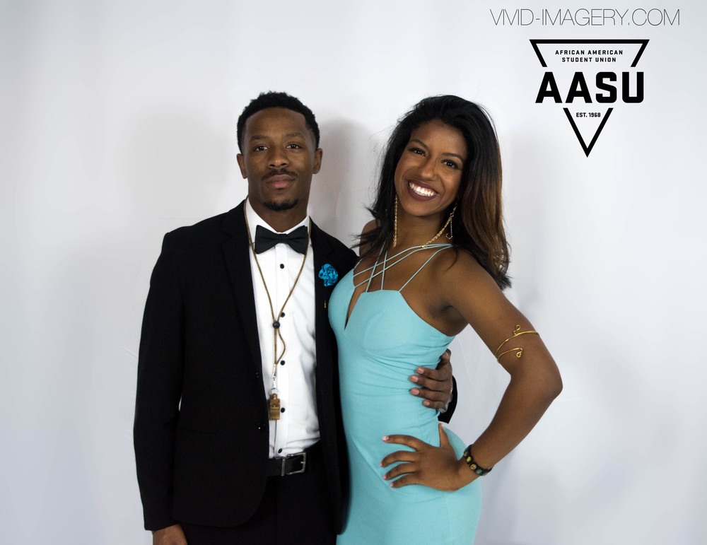 Our wonderful AASU President and her date!