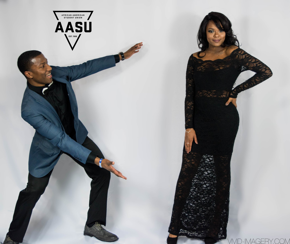 Our AASU Black Leadership Conference Chair showing off his beautiful date!