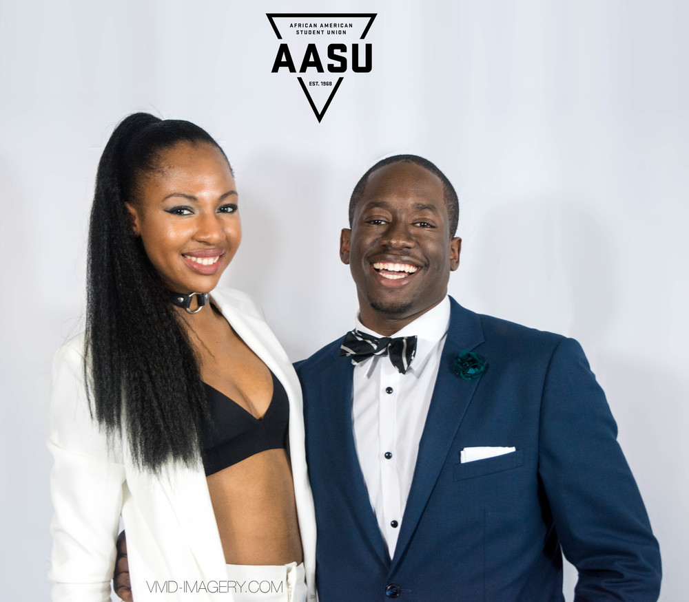 Our AASU Vice President and Publicity Chair looking red carpet ready!