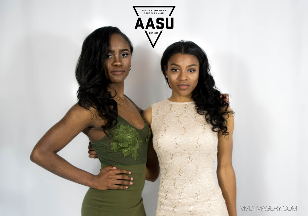 Our AASU Finance Chair and friend looking absolutely beautiful!