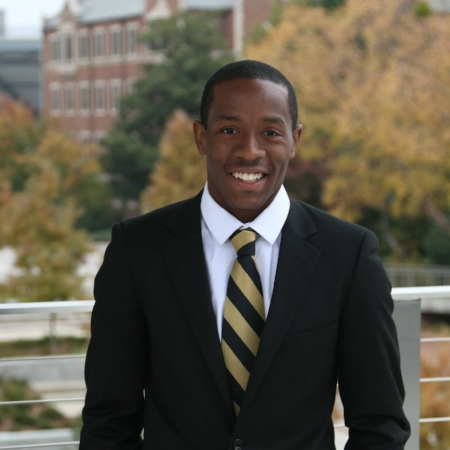 Nicholas Johnson is a fourth year Computer Science major. He's a brother of the Nu Mu chapter of Alpha Phi Alpha Inc. and has interned with Goldman Sachs!