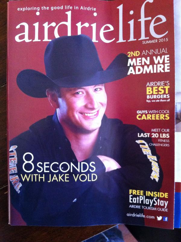 Jake Vold on the cover of AirdrieLife