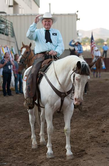 Cotton Rosser leads the Parade at the Reno Rodeo (Photo Credit:Cornelius Photography)