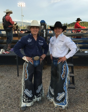 Jesse and Jake Wright at the Sioux City rodeo. (Rusty Wright)