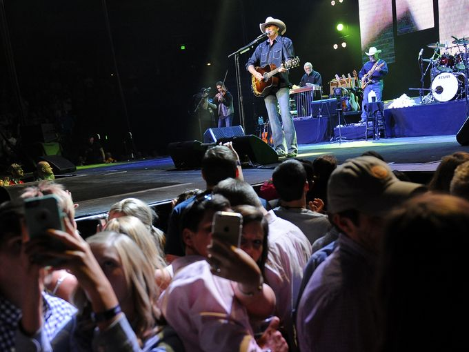 Alan Jackson performs at Bridgestone Arena.  George Walker IV / The Tennessean