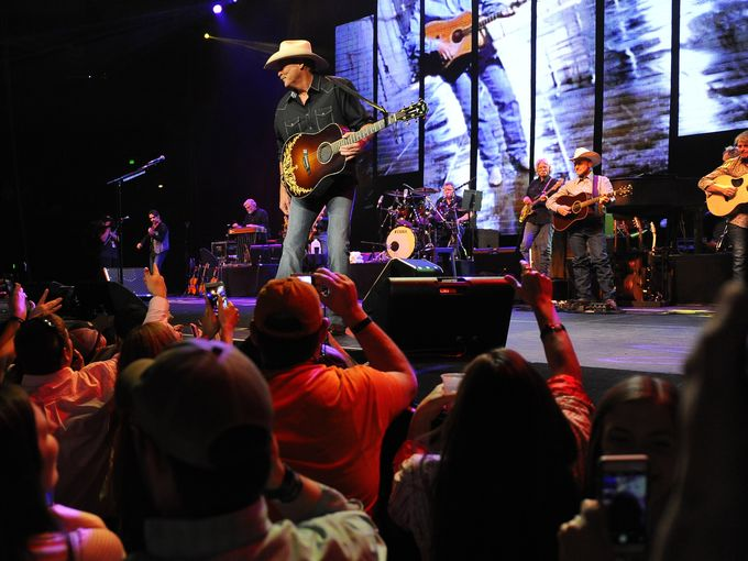 Alan Jackson performs at Bridgestone Arena on Saturday, April 11, 2015.  George Walker IV / The Tennessean