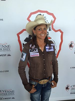"Barrel racer Lisa Lockhart and her horse ""Louie"" capture the title with a 52.54 on three runs at the Daddy of Em All."