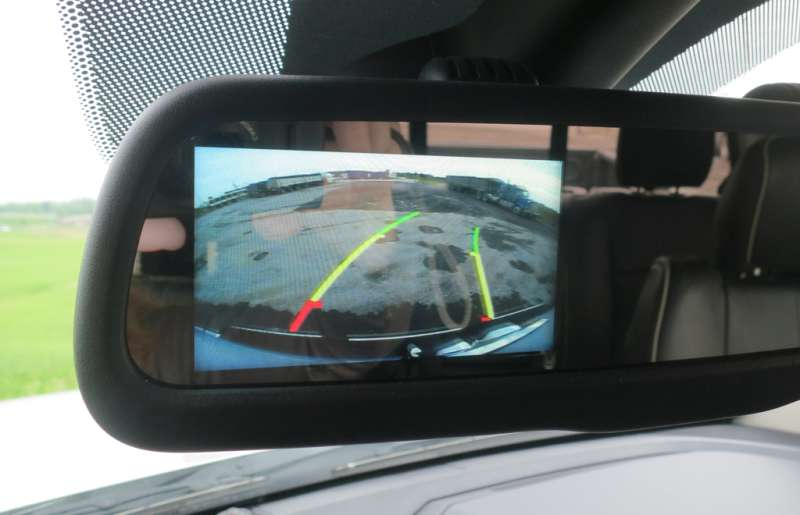 The Ram 2500's rear-view camera certainly eases any jitters about backing up trailers. Lesley Wimbush, Driving
