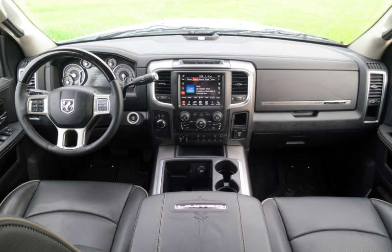 Inside, the Ram 2500 definitely reflects the $63,985 price tag. Lesley Wimbush, Driving