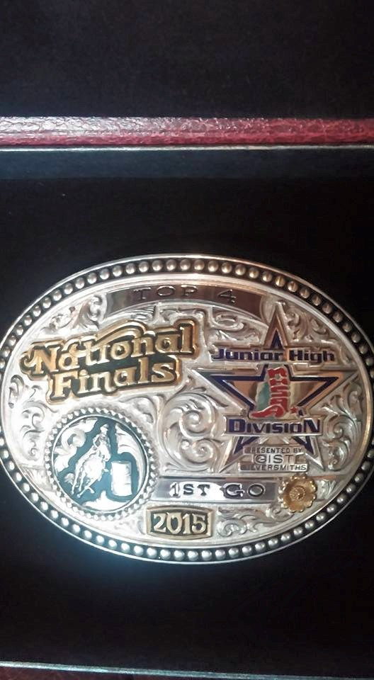 Congratulations to Paige for her second place finish in go-round number one of barrel racing at the Junior High National Finals Rodeo.