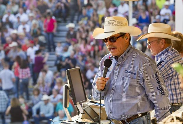 Pro Rodeo Announcers Randy Corley & Hadley Barrett -- Longtime Voices of the Caldwell Night Rodeo DARIN OSWALD — doswald@idahostatesman.com