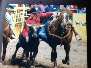 Todd Boggust was a champion steer wrestler, following in his father's footsteps. (Submitted by Marty Boggust)