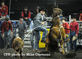 Matt Shiozawa - New Arena Record in the Tie-Down Roping (7.0 seconds) - #CFR42 1st Performance