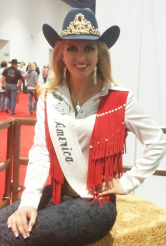 Reigning Miss Rodeo America Lauren Heaton poses for a photo Saturday at Cowboy Christmas. PATRICK EVERSON/LAS VEGAS REVIEW-JOURNAL
