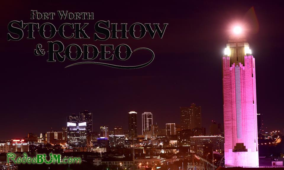 Rodeobum.com has outdone themselves with this beautiful shot of the Will Rogers Tower on pink night.