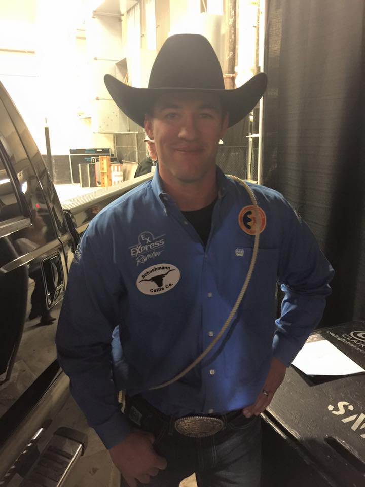 Hunter Herrin, who set the arena record with a 6.6 earlier in the rodeo, wins the tie-down roping title at San Antonio with a total of $21,604.
