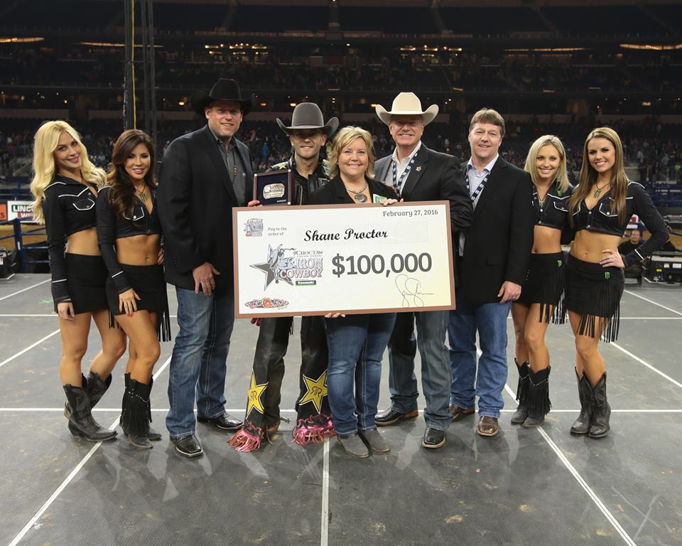 Shane Proctor heads home a happy man. Congratulations to the 2016 #IronCowboy.