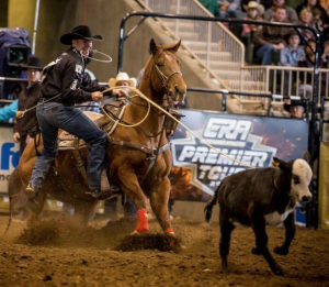 ERA Athlete, Trevor Brazile wins the Tie-Down Roping with a 7.61 at ERA Premier Tour Rodeo  in Redmond, Oregon