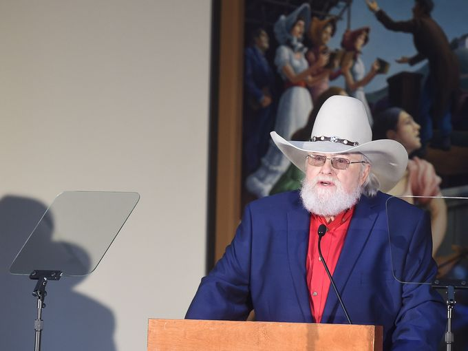 Charlie Daniels speaks after being announced as the next inductee into The Country Music Hall of Fame March 29, 2016 in Nashville, Tenn.  Samuel M. Simpkins / The Tennessean