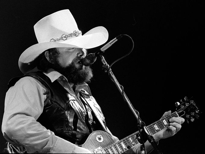 Charlie Daniels performs during his Charlie Daniels Volunteer Jam VI at Municipal Auditorium on Jan. 12, 1980.  Ricky Rogers / The Tennessean