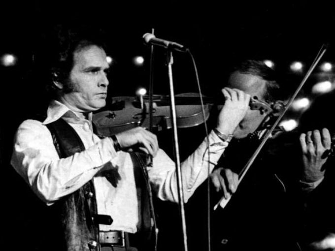 1972: Merle Haggard performs at the Capitol Records show at the Municipal Auditorium, as part of CMA Week.  Joe Rudis / The Tennessean