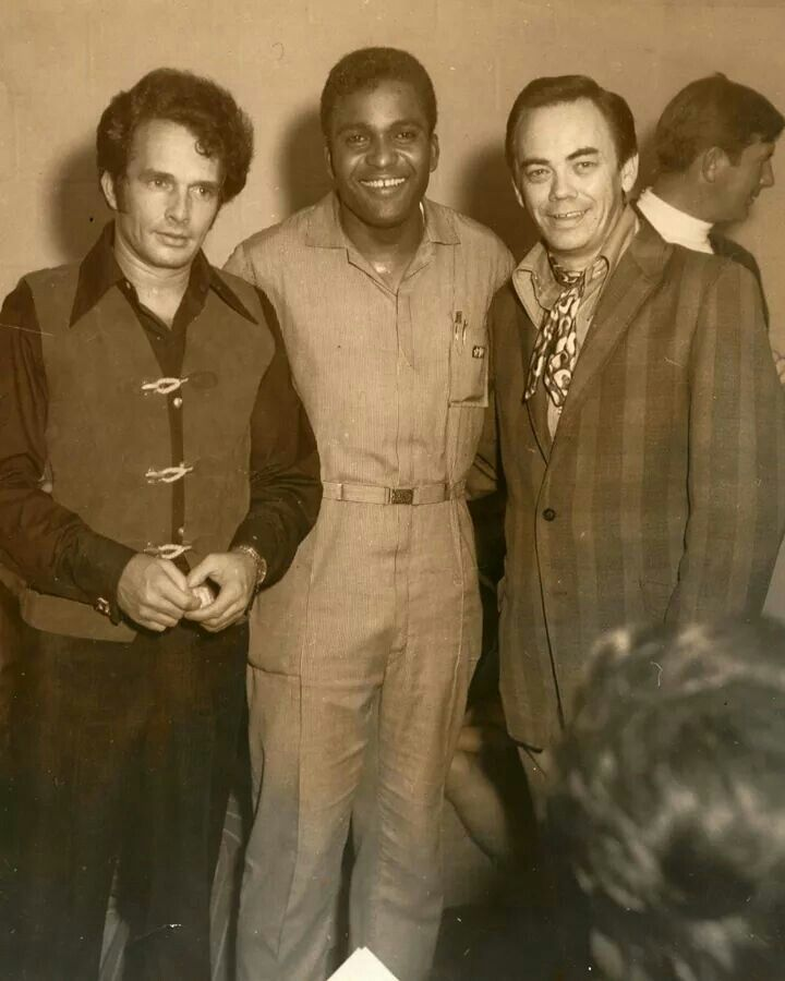 Merle Haggard, Charlie Pride and song writer Bill Mack. Panther Hall, Ft. Worth, TX.