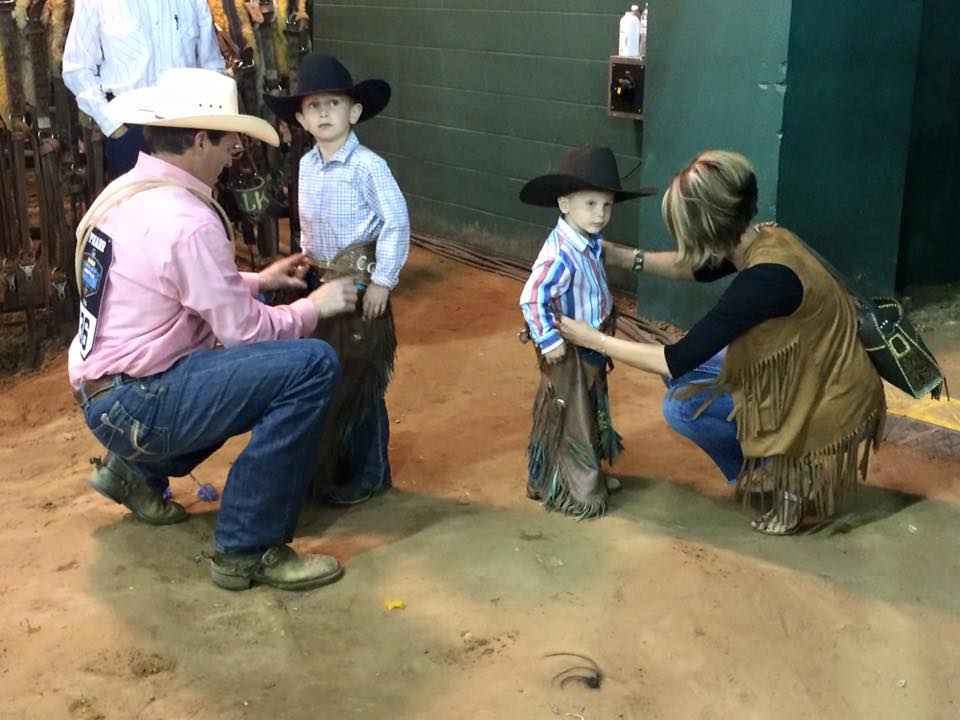 ProRodeo.com may have a age requirement of 18, but - that doesn't mean the boys can't dress the part of a bronc or bull rider. #RNCFR