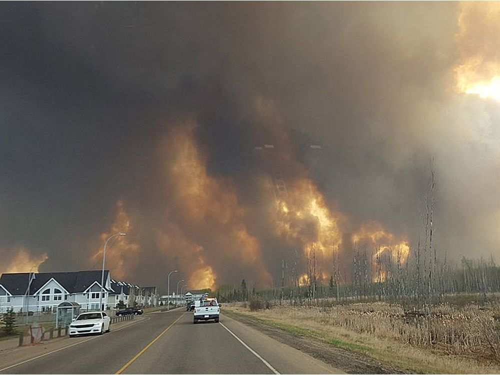 Fort McMurray fire on May, 3, 2016. Courtesy of Mary Sexsmith.