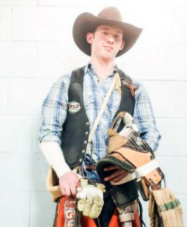 Cowboy Coy Lutz seen earlier this year in a photo from his Facebook page. (Facebook)