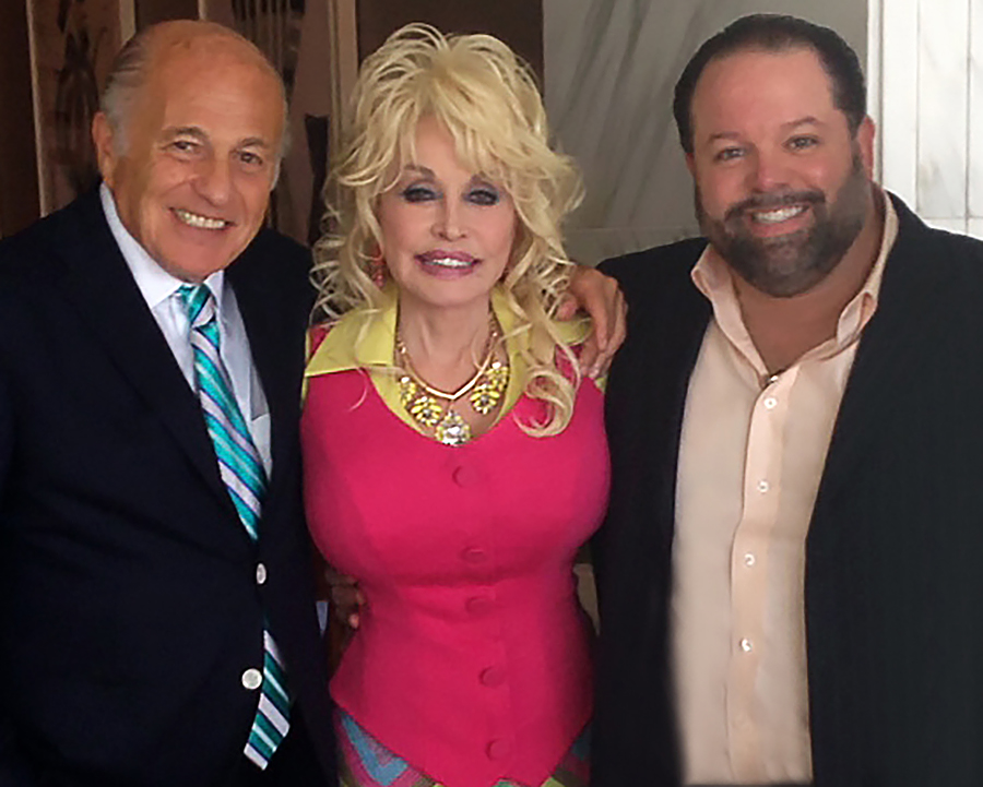 Left to right: Doug Morris, CEO Sony Music Entertainment; Dolly Parton; and, Danny Nozell, CEO CTK Management; Photo courtesy Webster PR