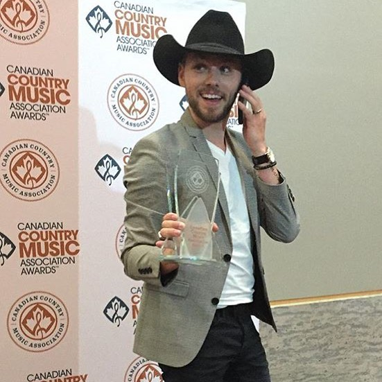 "HEY GUYS! ""WE"" won the Interactive Artist of the Year award! And I mean it. ""We"" did it. This one is for all my followers on social media. Love you and I'm definitely #CoolWithThat! (MAD props go to my Cecilia @ceciliakissel, Becky Vollrath @countrygirlreba, and Maria Gagliese @mgagliese!)"